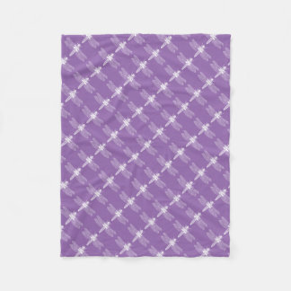 Dragonfly Retro Inspired Purple Insect Bug Pattern Fleece Blanket