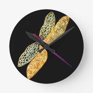 Dragonfly Round Clock