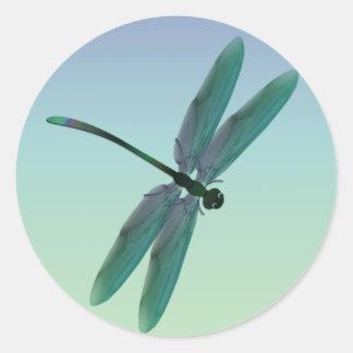 Dragonfly Round Sticker