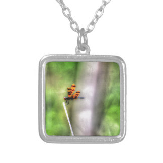 DRAGONFLY RURAL QUEENSLAND AUSTRALIA ART EFFECTS SILVER PLATED NECKLACE