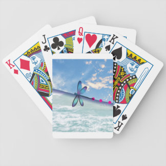 dragonfly-sea-sky bicycle playing cards