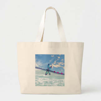 dragonfly-sea-sky large tote bag