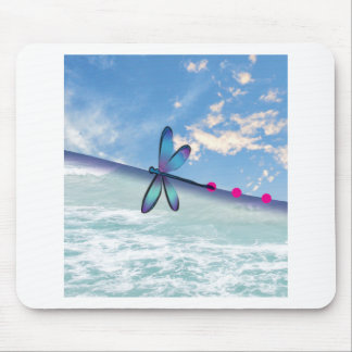 dragonfly-sea-sky mouse pad