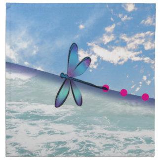 dragonfly-sea-sky napkin