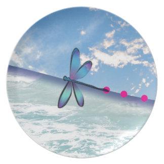 dragonfly-sea-sky plate