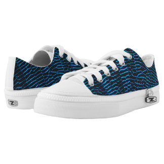 Dragonfly shiny vibrant blue wings Low-Top sneakers