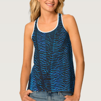 Dragonfly shiny vibrant blue wings tank top