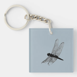 Dragonfly Silhouette Keychain 3