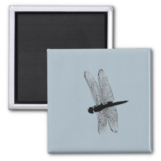 Dragonfly Silhouette Magnet
