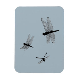 Dragonfly Silhouettes Flexible Magnet