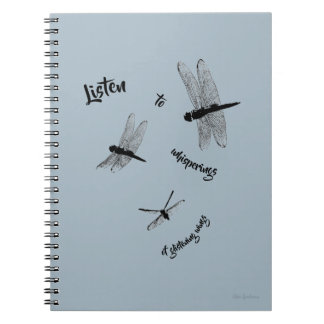 Dragonfly Silhouettes Spiral Notebook