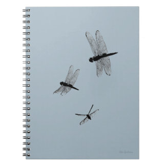 Dragonfly Silhouettes Spiral Notebook 2