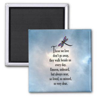 "Dragonfly ""So Loved"" Poem Square Magnet"