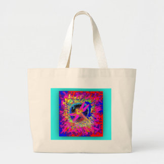 Dragonfly Splash by Sharles Large Tote Bag