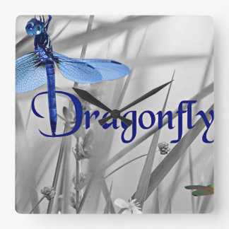 Dragonfly Square Wall Clock
