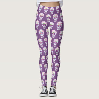 Dragonfly Sugar Skull Leggings