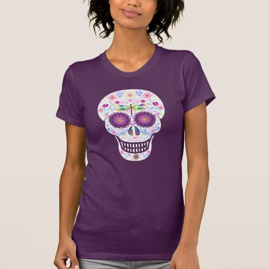 Dragonfly Sugar Skull Shirt