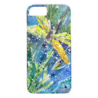 Dragonfly Summer watercolor phone case
