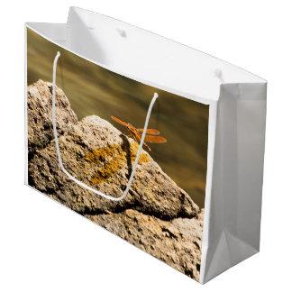 Dragonfly Sun Bathing Large Gift Bag