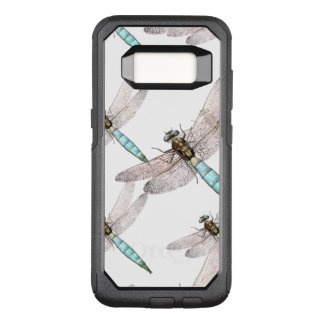 Dragonfly Swarm on White OtterBox Commuter Samsung Galaxy S8 Case