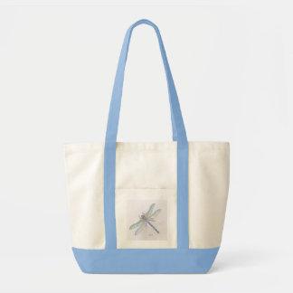 DRAGONFLY tote/beach bag (light blue)