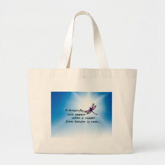 Dragonfly, Visitor from Heaven Large Tote Bag