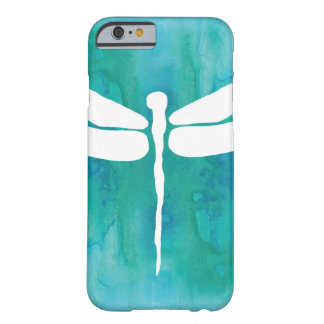 Dragonfly Watercolor White Aqua Blue Dragonflies Barely There iPhone 6 Case