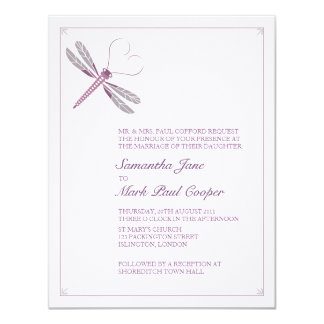 Dragonfly Wedding Invitations