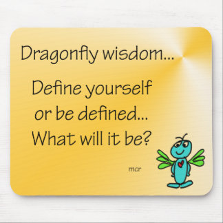 Dragonfly Wisdom Definition Mouse Pad