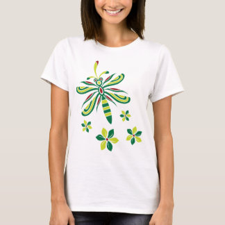 Dragonfly with Flowers T-shirt V2