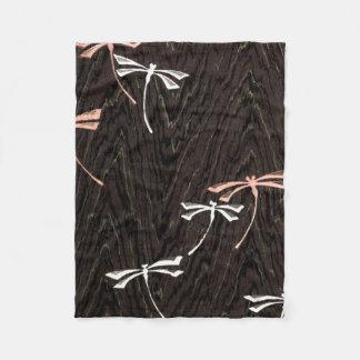 Dragonfly Woodgrain Fleece Blanket