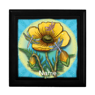 Dragonfly Yellow Poppy Gift Box