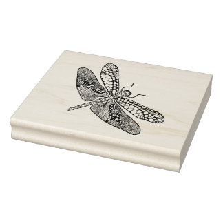 Dragonfly Zendoodle Rubber Stamp