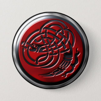Dragonknot Ruby Shield Button