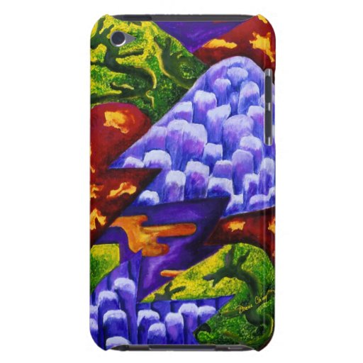 Dragonland - Green Dragons & Blue Ice Mountains Barely There iPod Covers