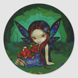 """Dragonling Garden I"" Sticker"