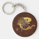 Dragonlore Initial C Basic Round Button Keychain
