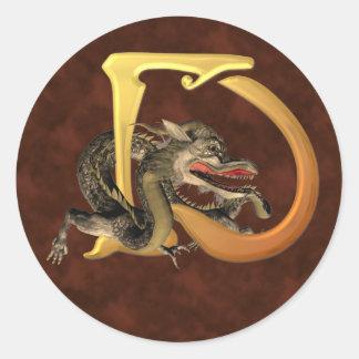 Dragonlore Initial D Classic Round Sticker