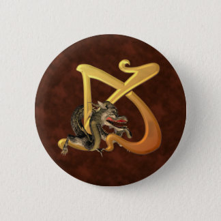 Dragonlore Initial K 2 Inch Round Button