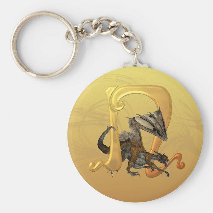 Dragonlore Initial N Basic Round Button Keychain
