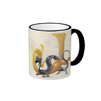 Dragonlore J initial Mug Ringer