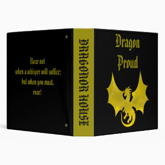 Dragonor House Binder with Mascot and Motto