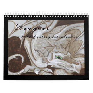 Dragons 2011 fantasy art calendar big eye painting