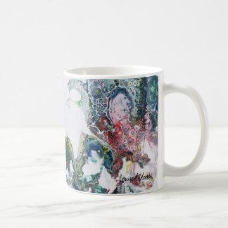 Dragons abstract fluid painting coffee mug