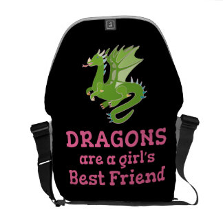 Dragons are a Girl's Best Friend Courier Bag