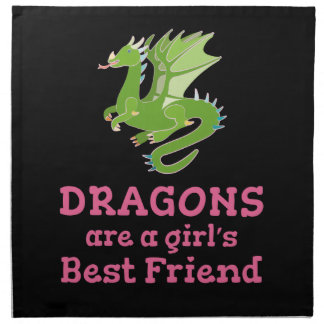 Dragons are a Girl's Best Friend Napkin