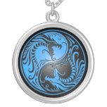 Dragons, bleu et noir de Yin Yang Colliers