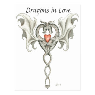 Dragons in Love - postcard