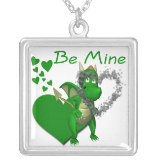 Dragons Need Valentines Too! Silver Plated Necklace