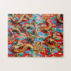Dragons on temple jigsaw puzzle